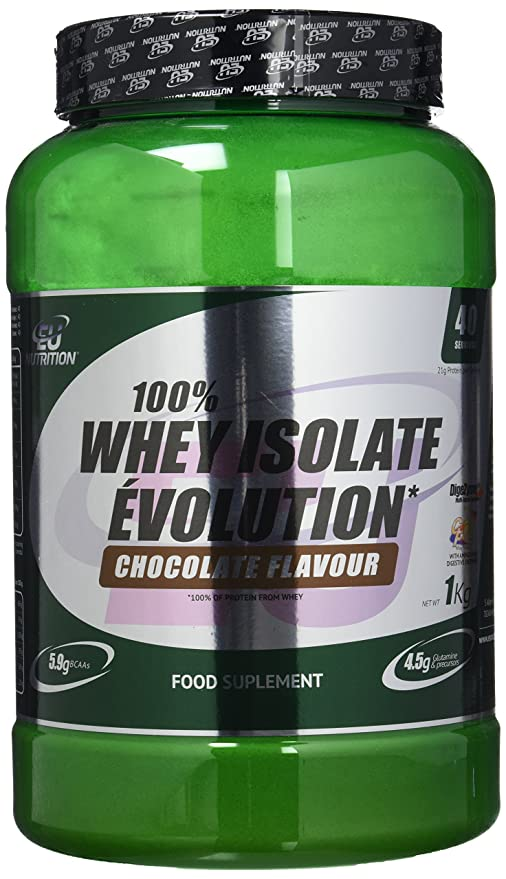 EU Nutrition 100% Whey Isolate Évolution Chocolate - 1000 gr ...