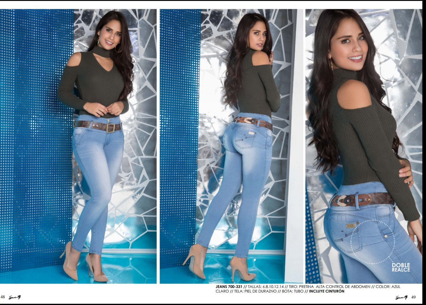38a1259e5a Amazon.com  SEVEN7 JEANS 100% COLOMBIANOS PUSH UP JEANS Ref 331  Sports    Outdoors