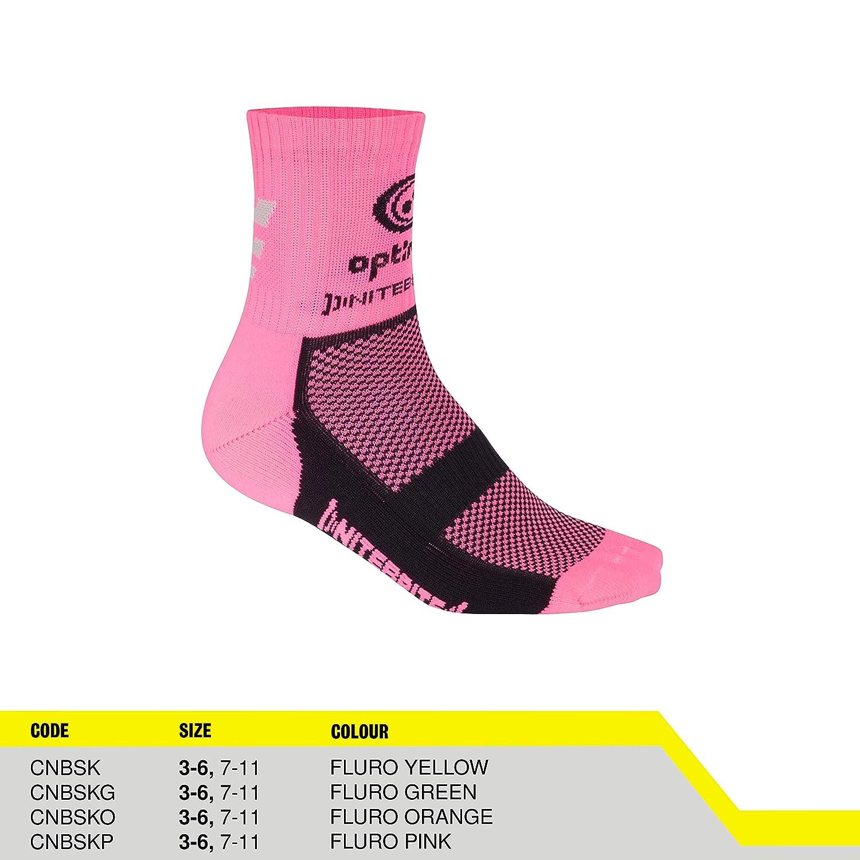 3-6, Pink Optimum Mens Nitebrite Hi-Viz Winter Cycling Socks
