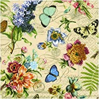 Guardanapo Vintage Summer Paper Design Multicor 33 x 33 cm Papel