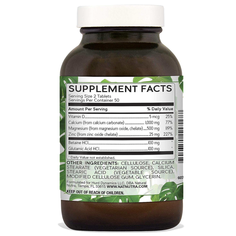 f1e20cb2a42e Amazon.com  Natural Nutra Calcium Magnesium Zinc Supplement with ...