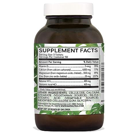 Amazon.com: Natural Nutra Calcium Magnesium Zinc Supplement with Vitamin  D3, 1000/500/25 mg Cal-Mag-Zinc, 100 Vegetarian Tablets: Health & Personal  Care