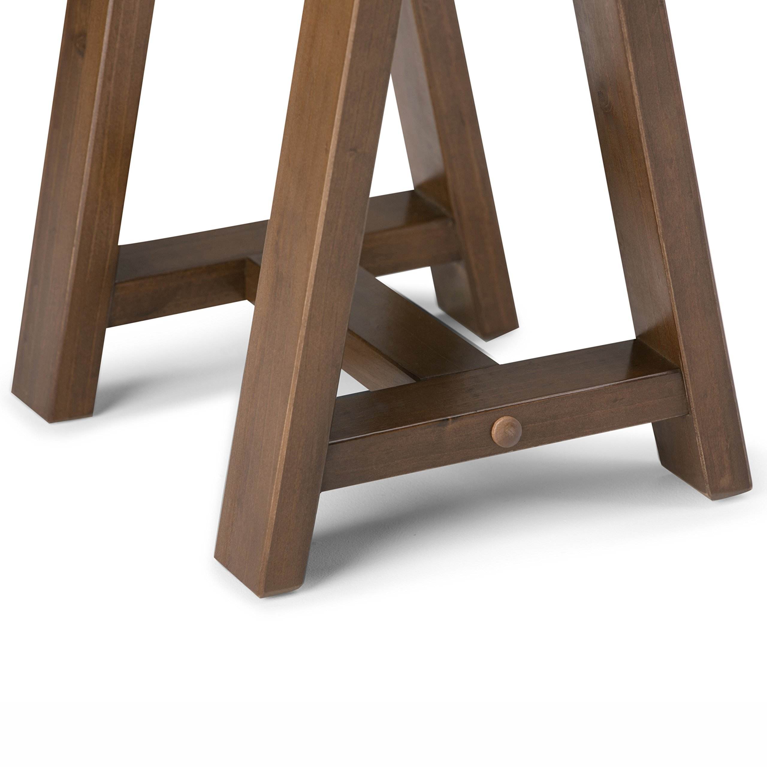 Simpli Home Sawhorse Solid Wood Wide Console Sofa Table, Medium Saddle Brown by Simpli Home (Image #4)