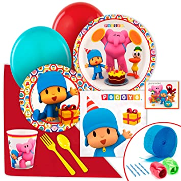 Amazon.com: Pocoyo Party Supplies – Valor Party Pack: Toys ...