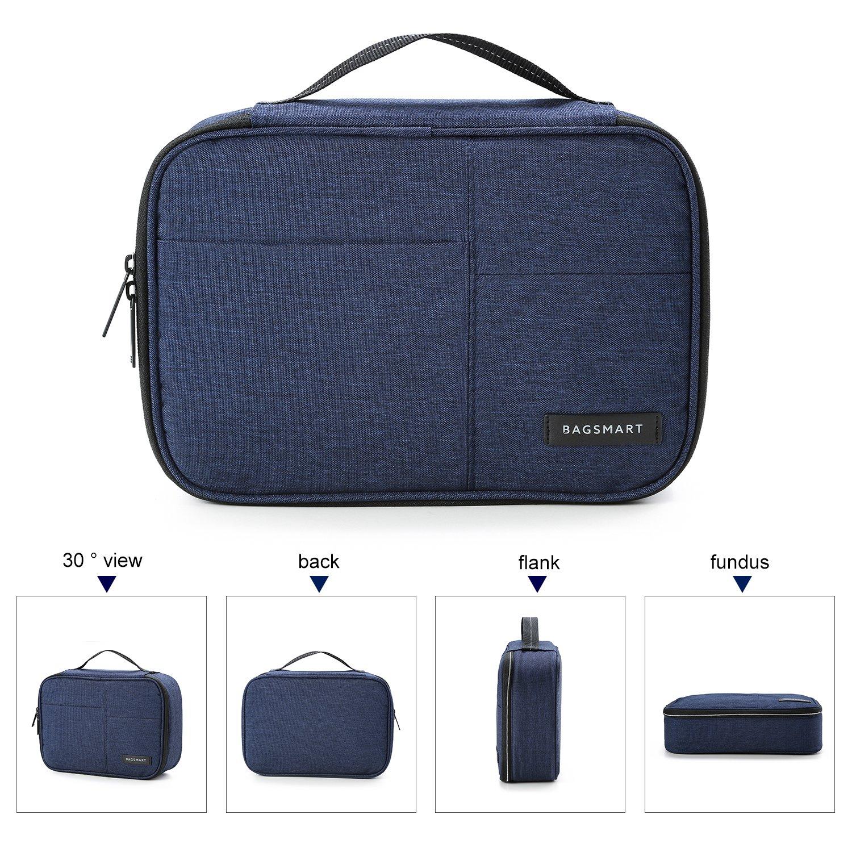 Kindle Blue ipad Mini 9.7 Ipad Pro Chargers BAGSMART Electronics Travel Organizer Bag for Adaptors ipad air iPhone