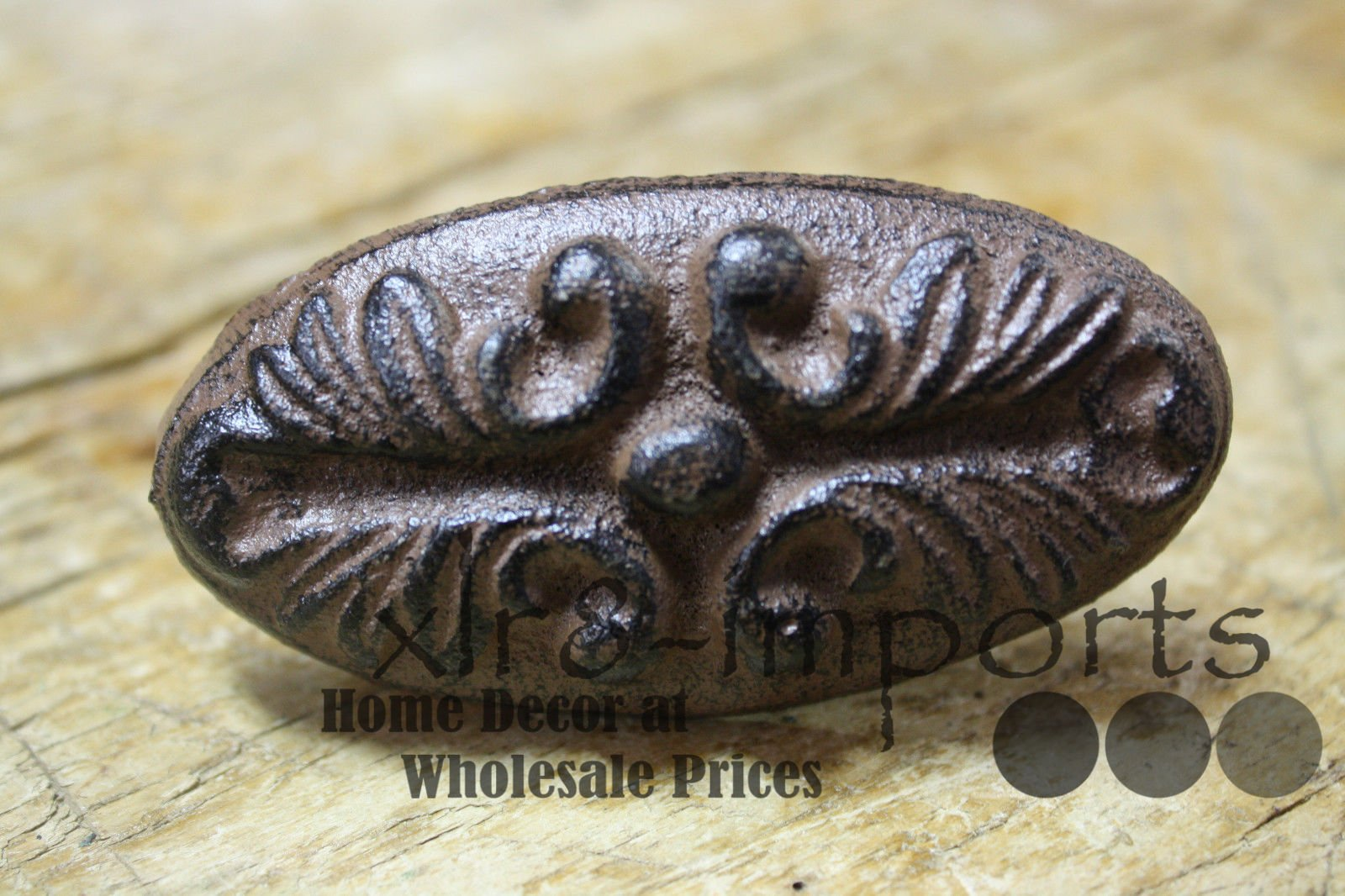 New 12 Cast Iron by YourLuckyDecor Antique Victorian Style OVAL Drawer Pull, Barn Handle, Door Handles