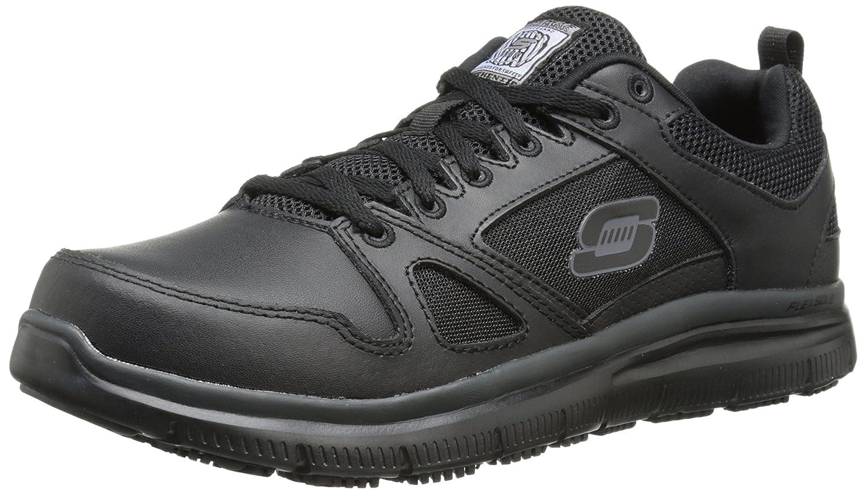Skechers for Work Men's Flex Advantage Slip Resistant Oxford Sneaker -
