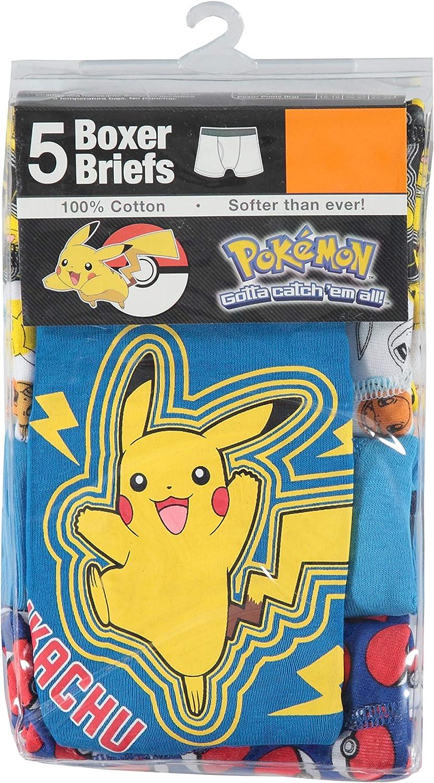 Handcraft Big Boys' Pokemon 5pk Boxer Briefs, Asst, 8: Clothing