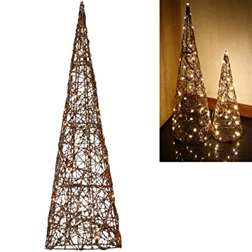Weihnachtsbeleuchtung Fenster Pyramide.Dszapaci Weihnachtspyramide Beleuchtet 60 Cm Led