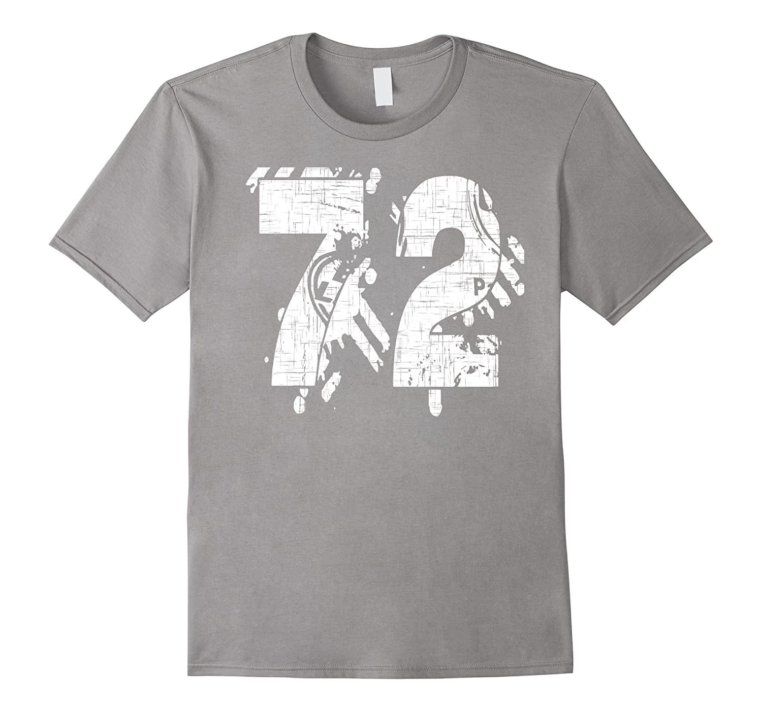 72 Numbered T-Shirt printed front and back in super grunge-PL