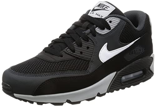 huge selection of 1e563 fae20 Nike Men s Air Max 90 Essential Trainers, Black (Black White-Anthracite-
