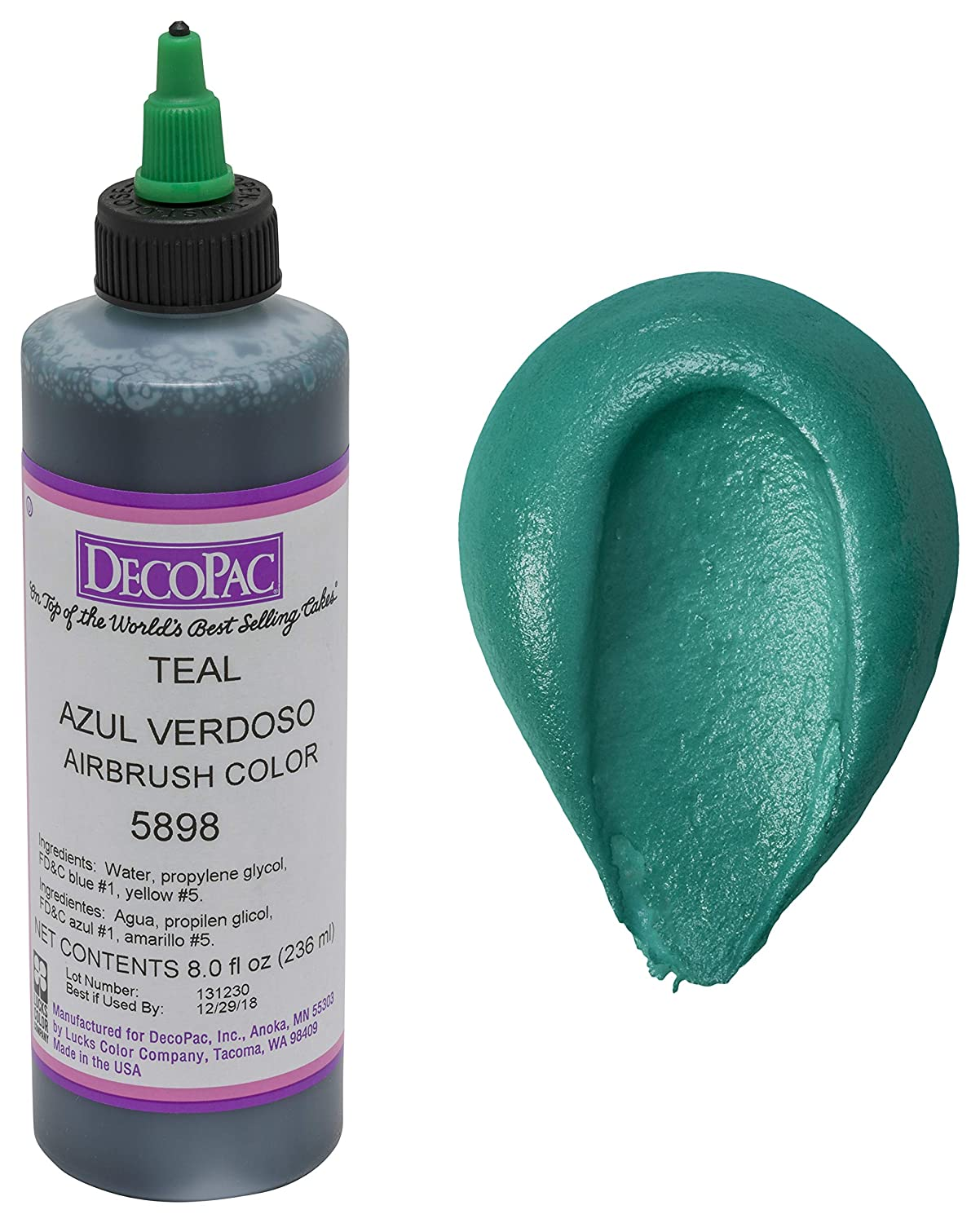 DecoPac Airbrush Color, Teal, .65 Pound
