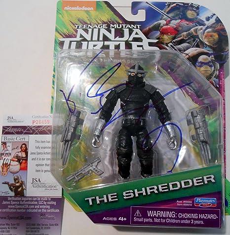 Brian Tee Signed Shredder Toy w/JSA COA Teenage Mutant Ninja ...
