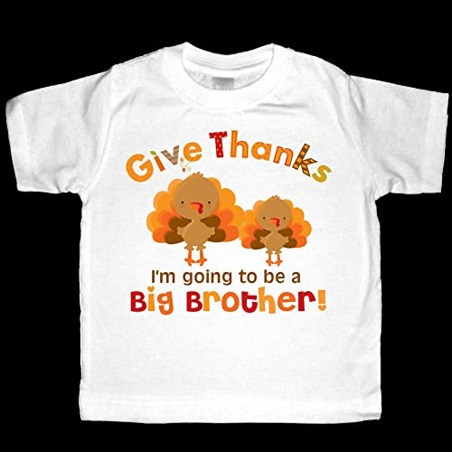 c84d635d9 Image Unavailable. Image not available for. Color: Give Thanks I'm going to  be a Big Brother! Turkeys Thanksgiving Pregnancy Announcement