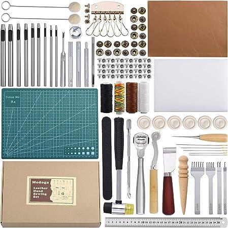 Couteau à découper Punch Tool Roll PU cuir Sac De Rangement Outil Kit