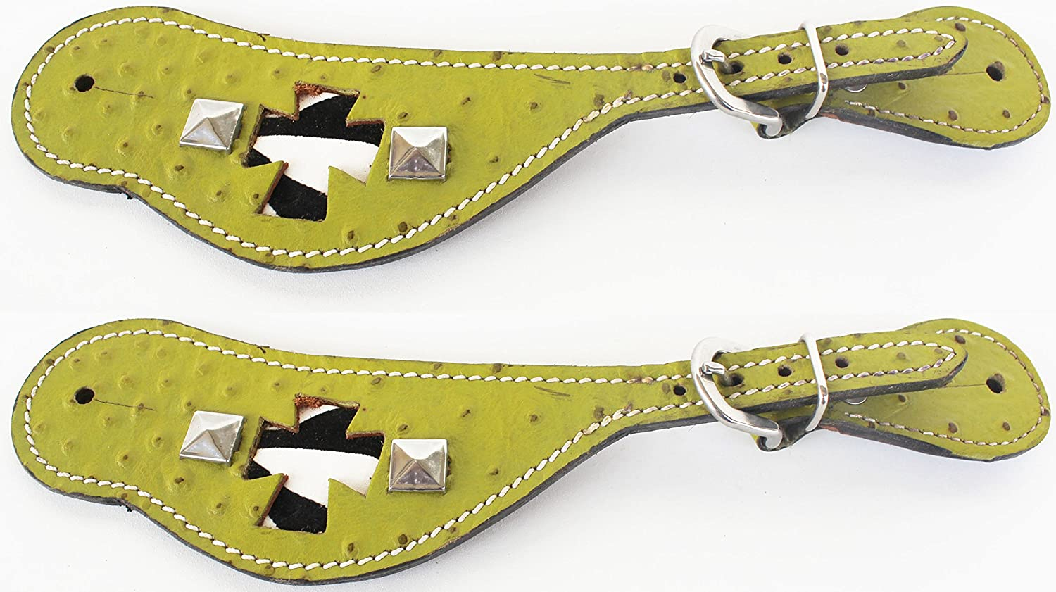 PRORIDER Horse Western Riding Cowboy Boots Leather Spur Straps Tack 7473