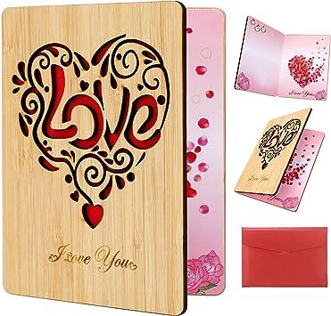 carte je taime avec enveloppe carte saint valentin femme Carte danniversaire de mariage cadeau de st valentin carte /à personnaliser carte coeur carte st valentin love