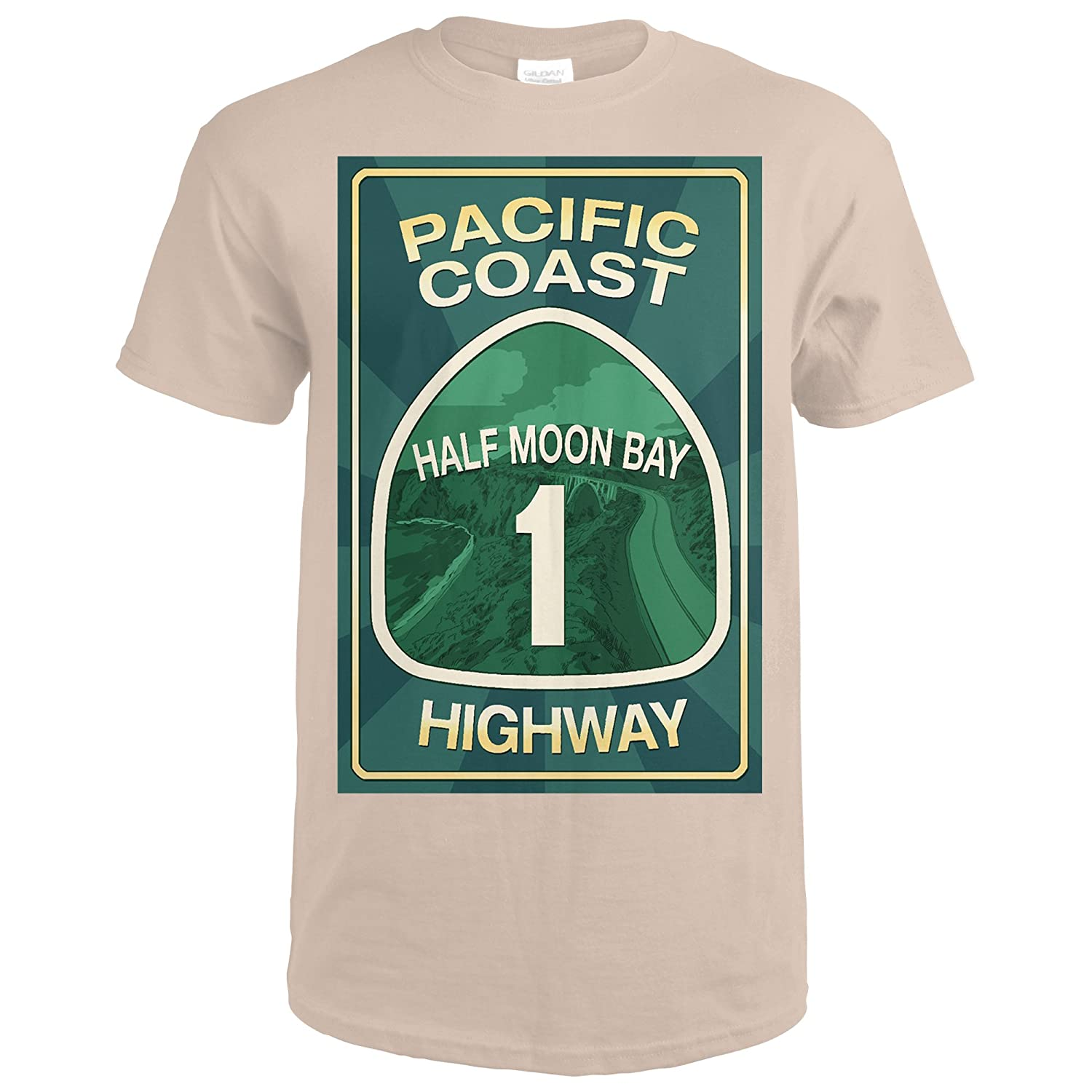 Amazon.com: Highway 1, California - Half Moon Bay - Pacific Coast Highway Sign (Premium T-Shirt): Clothing