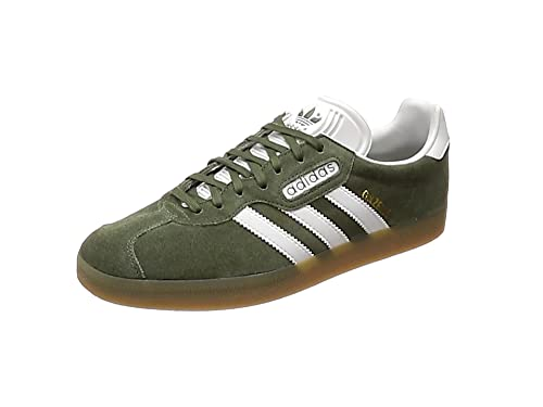 adidas Gazelle Super, Baskets Basses Homme, Gris (Grey One/Mystery Rouge Ruby