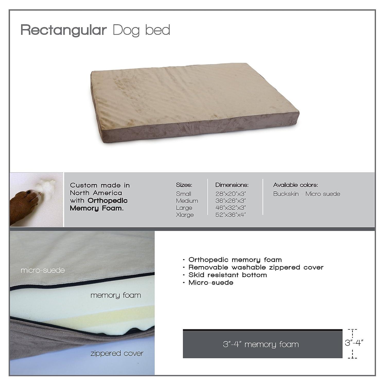 "Amazon.com : Extra Large 52"" X 36"" Orthopedic Memory Foam Dog Pet Bed :  Extra Large Dog Bed Cover : Pet Supplies"