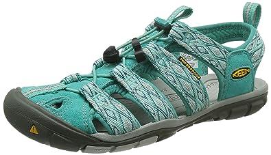 75d72553a2 Keen Women's Clearwater CNX Heels Sandals, Turquoise (Lagoon/Vapor), 3.5 UK