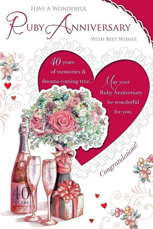 Celebrity Style Biglietto Per 40 Anniversario Di Matrimonio Nozze
