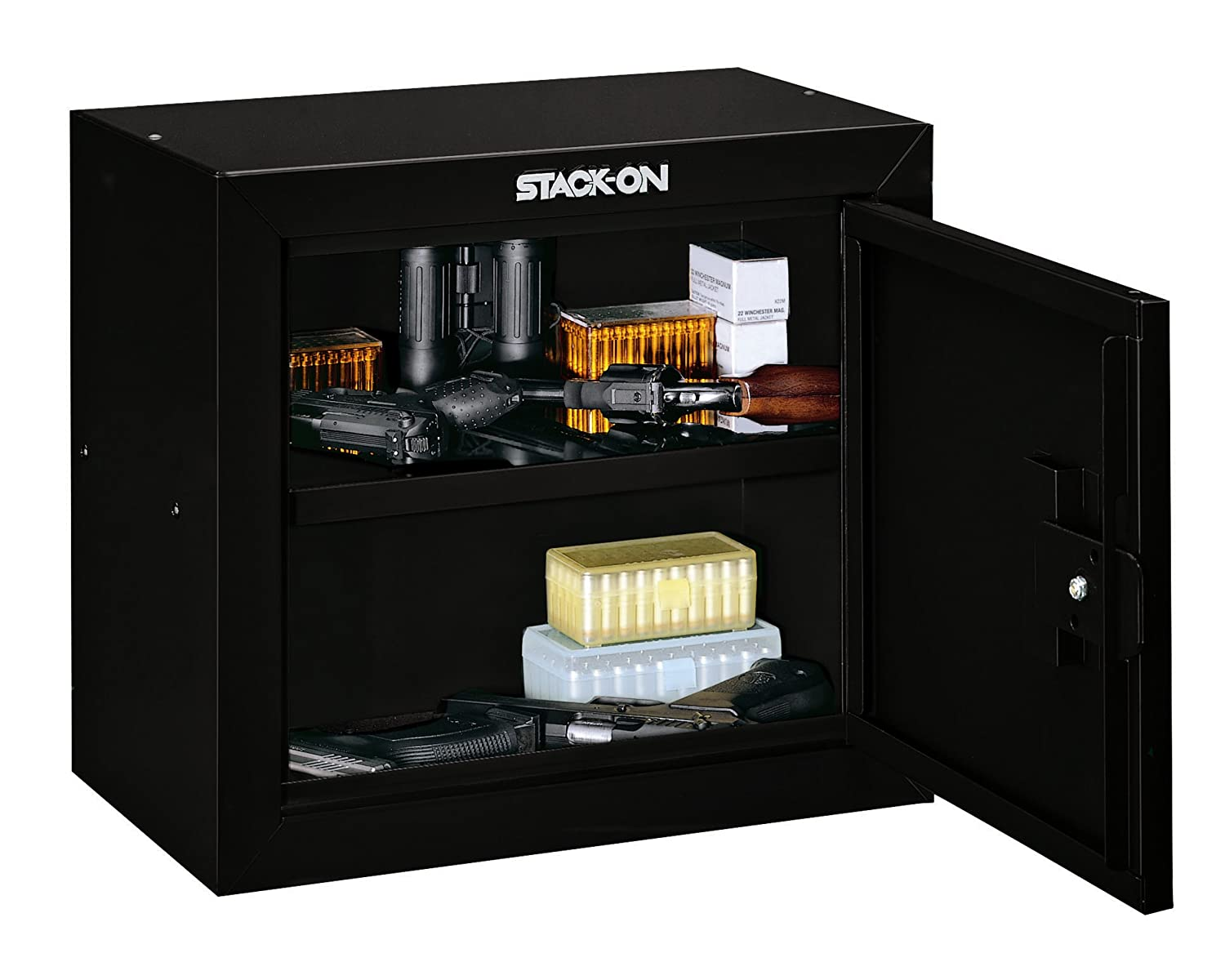 Amazon.com: Stack-On GCB-500 Steel Pistol/Ammo Cabinet, Black ...