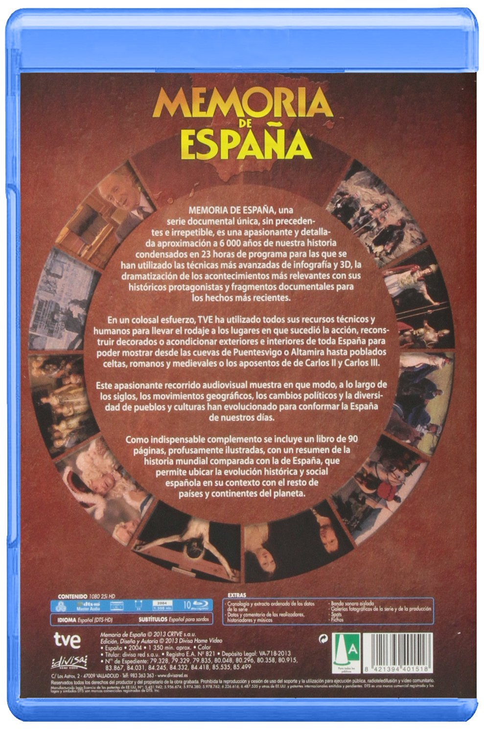 Memoria De España (BD + Libro) [Blu-ray]: Amazon.es: Cine y Series TV