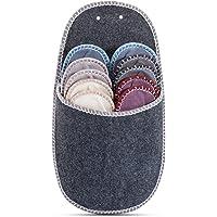 ONVAYA Gastensloffen set van 5 | Pantoffels | Hut schoen | Vilten pantoffels | grijs
