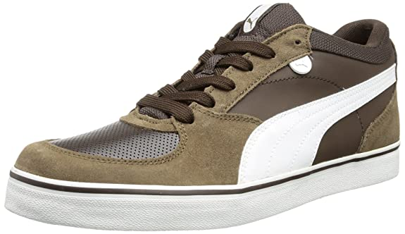 Skate Vulc, Bas homme - Marron - Braun (demitasse brown-white-teak 07)Puma