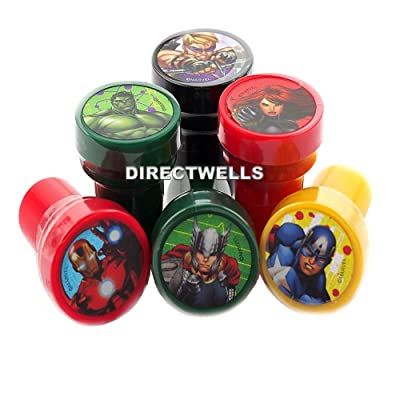 Avengers Marvel Authentic Licensed Self Inking Stampers ( 10 Stampers ): Toys & Games