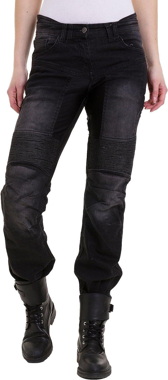 Qaswa Homme Moto Jeans Motards Pantalon Renforc/ée Aramide Protection Motorcycle Pants