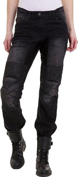 Qaswa Damen Motorradhose Jeans Motorrad Hose Motorradrüstung Schutzauskleidung Motorcycle Biker Pants Bekleidung