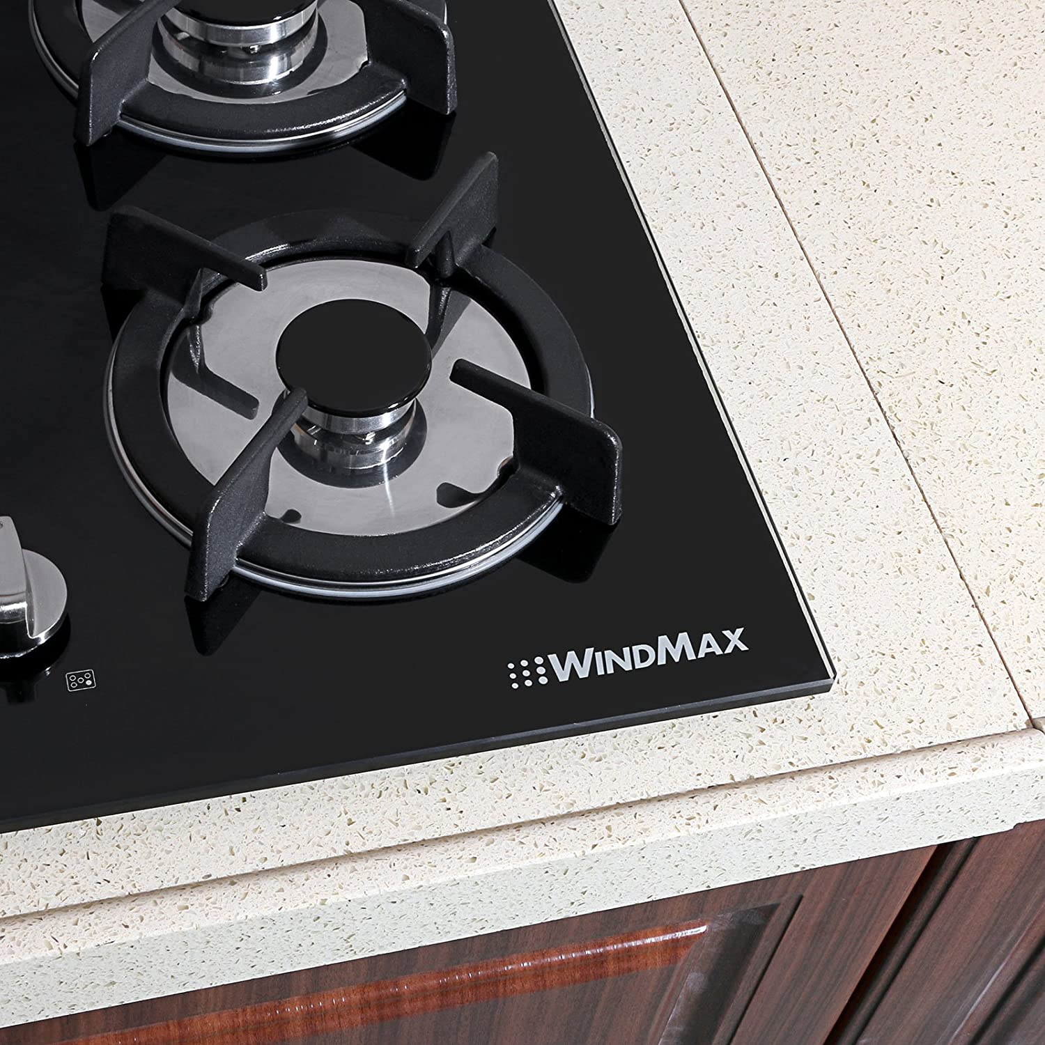 !! ON SALE NOW!! 30 Fashion Black Tempered Glass Built-in Kitchen Natural Gas 5 Burner Gas Hob CookTop