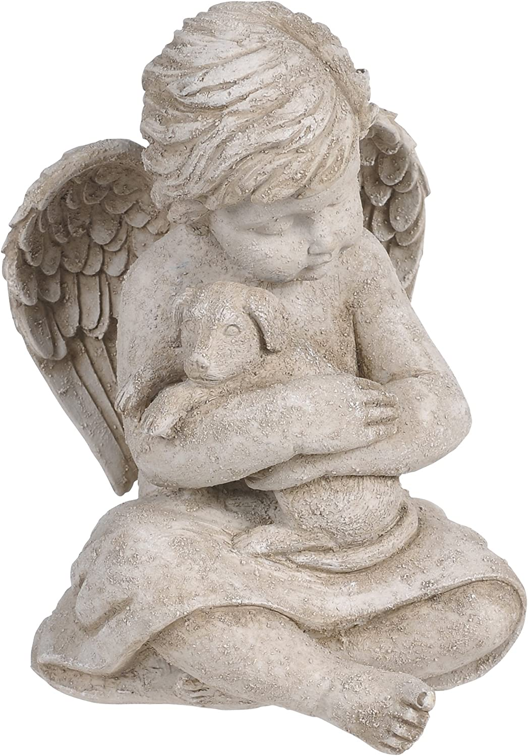 Grasslands Road Cherub with Dog, 7-Inch, Gift Boxed : Outdoor Statues : Garden & Outdoor