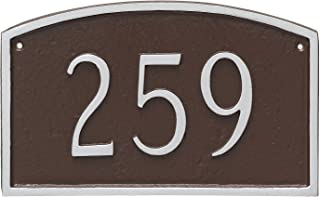 "product image for Montague Metal Prestige Arch Petite Address Sign Plaque, 5.5"" x 9"", Black/White"