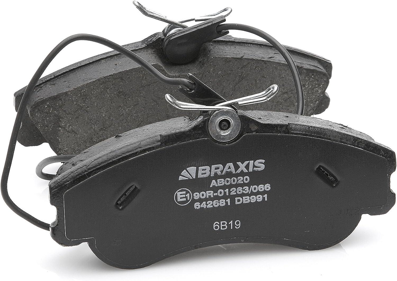 BRAXIS AB0020 Pastillas de freno delantero conjunto de 4