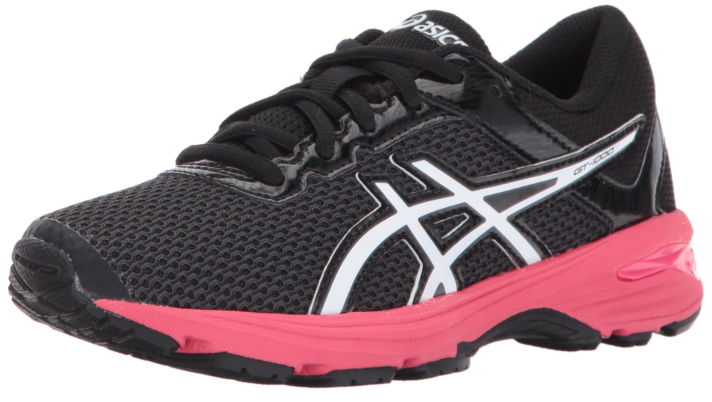 ASICS GT-1000 6 GS Kid's Running Shoe. Dark Grey/White/Rouge Red, 3.5 M US Big Kid by ASICS (Image #1)