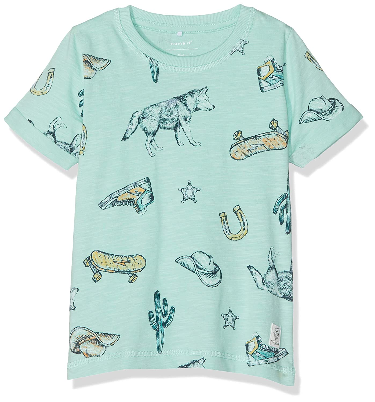 NAME IT Baby-Jungen Nmmhuba Ss Top Box T-Shirt