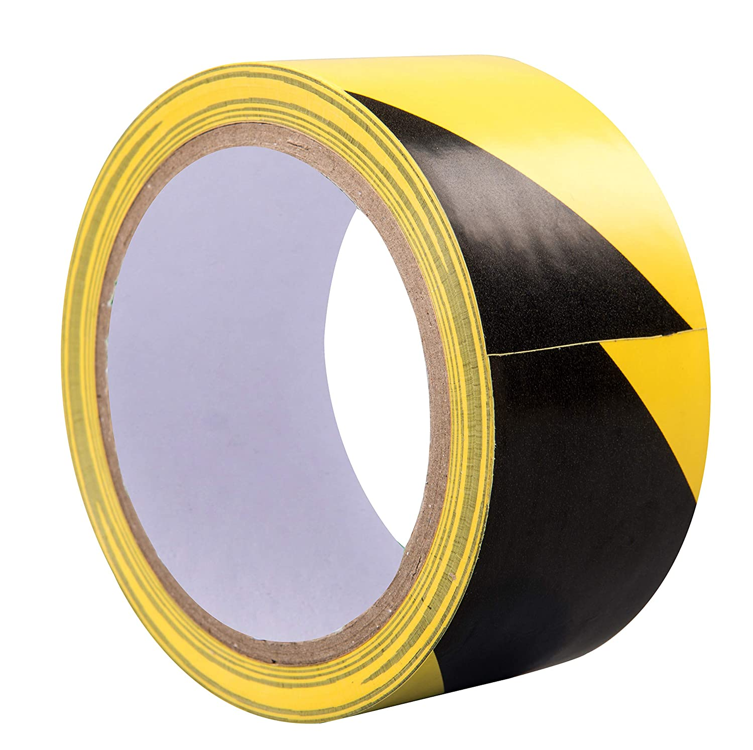 TopSoon Strong Adhesive Black and Yellow Safety Warning Tape Floor Marking Ta...