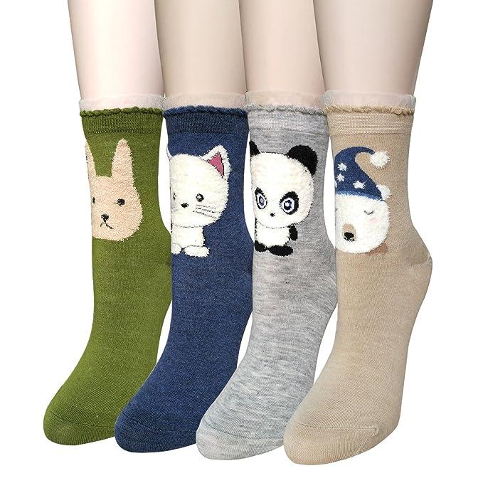Justay Calcetines de Algodón, Mujeres Suave Cómodo Calcetines de Mascota Divertidos Dibujo: Amazon.es: Ropa y accesorios