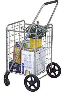 Wellmax WM99024S Grocery Utility Shopping Cart | Easily Collapsible And  Portable To Save Space + Heavy