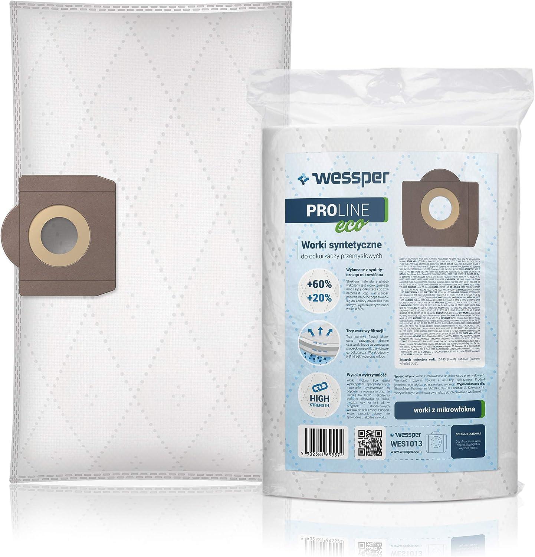 Wessper 10x Bolsas para aspiradora Bosch Pas 11-21; 12-27, 850, Gas 20 L, 15L, Titan TTB 350 430; Vac 350; Vac 351: Amazon.es: Hogar