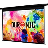 """Duronic EPS60 /43 Schermo di proiezione 60"""" formato 4:3/122 X 91 cm telo proiettore motorizzata a sviluppo elettrico Fissaggio a muro o a soffitto Full HD 3D 4K - Home cinema home theater ufficio"""