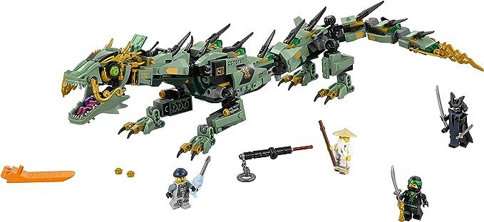 LEGO NINJAGO Movie Green Ninja Mech Dragon 70612 Ninja Toy with Dragon Figurine Building Kit (544 Pieces)