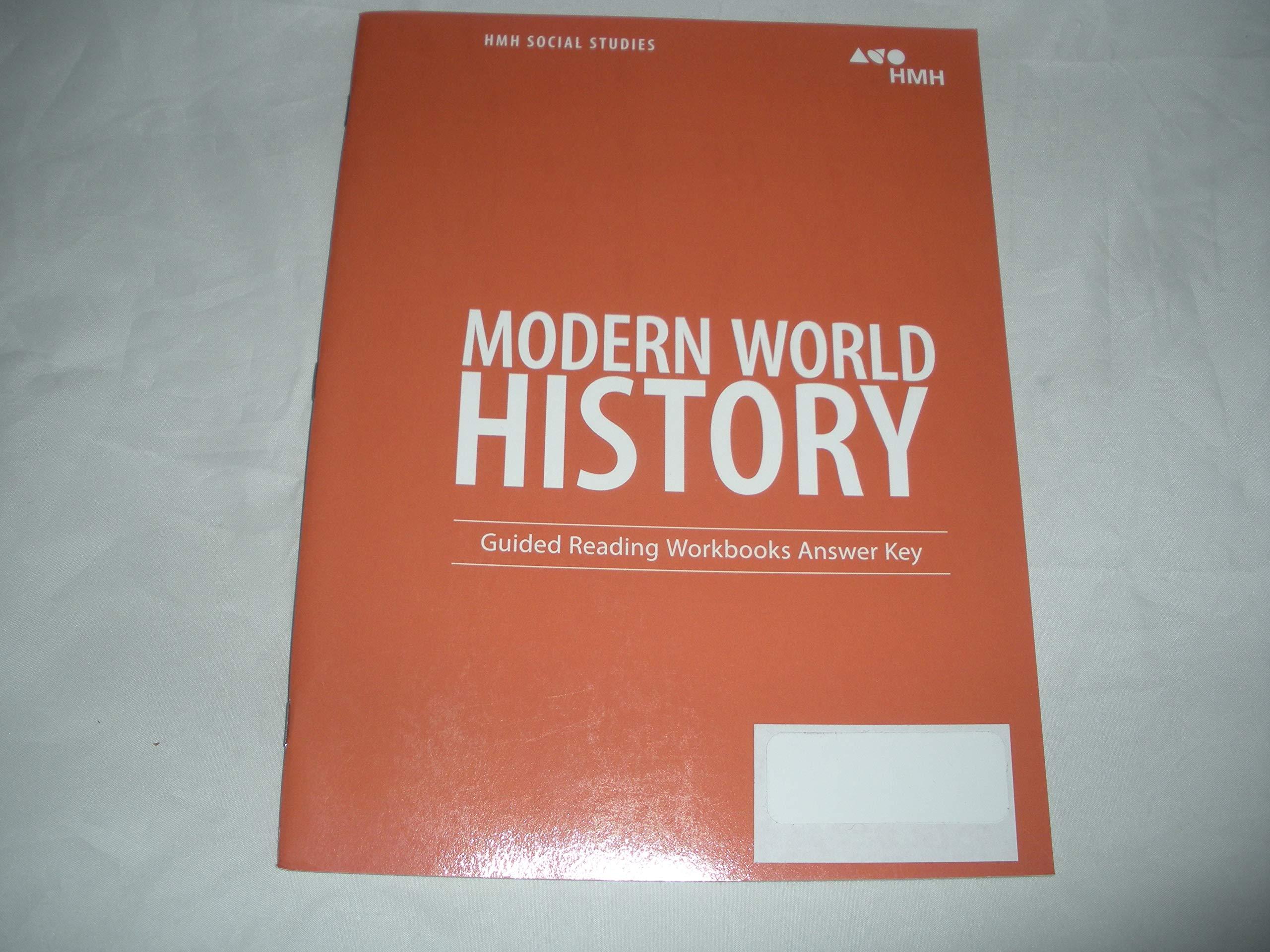 Modern World History Guided Reading Workbooks Answer Key: Houghton