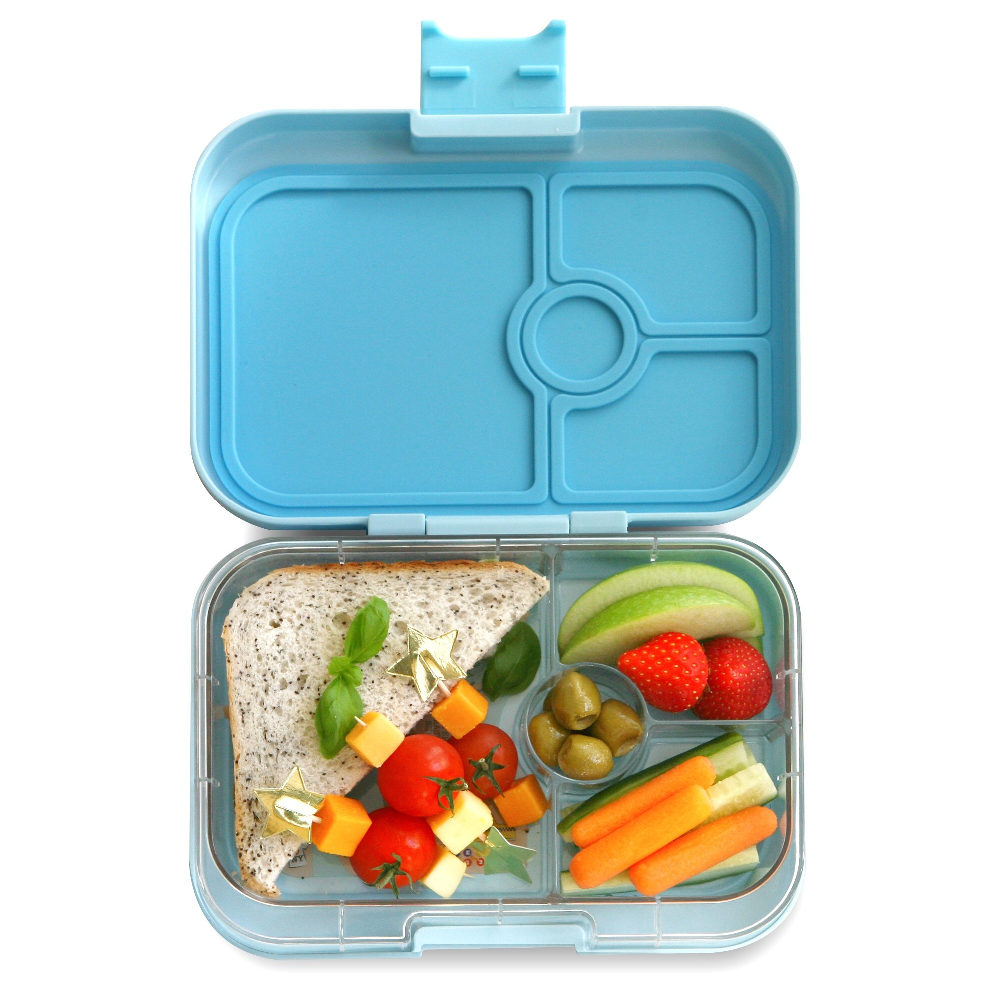 YUMBOX Panino(Liberty Blue) Leakproof Bento Lunch Box Container for Kids & Adults; Bento-style lunch box offers Durable, Leak-proof, On-the-go Meal and Snack Packing
