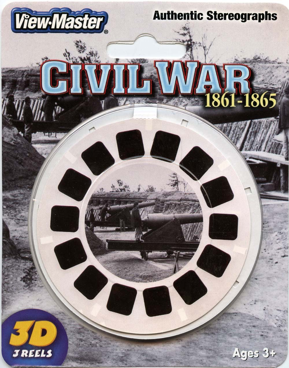ViewMaster -The Civil War - Authentic Stereographs 1861-1865 - 3 Reels on Card- NEW by 3Dstereo ViewMaster (Image #1)
