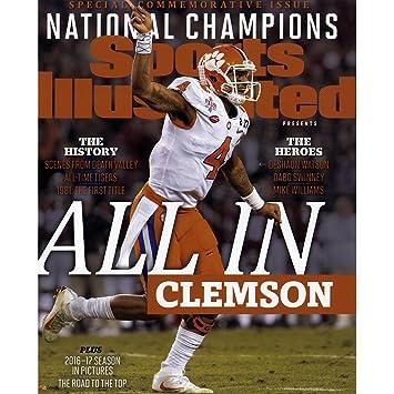 Amazon Com Deshaun Watson Sports Illustrated National Championship