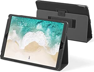 "Snugg iPad Pro 12.9"" 1st & 2nd Gen (2017 & 2015) Leather Case, Flip Stand Cover - Blackest Black"